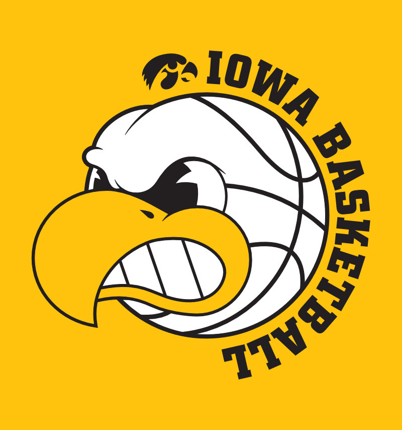 University of Iowa Herky mascot shaped like a basketball